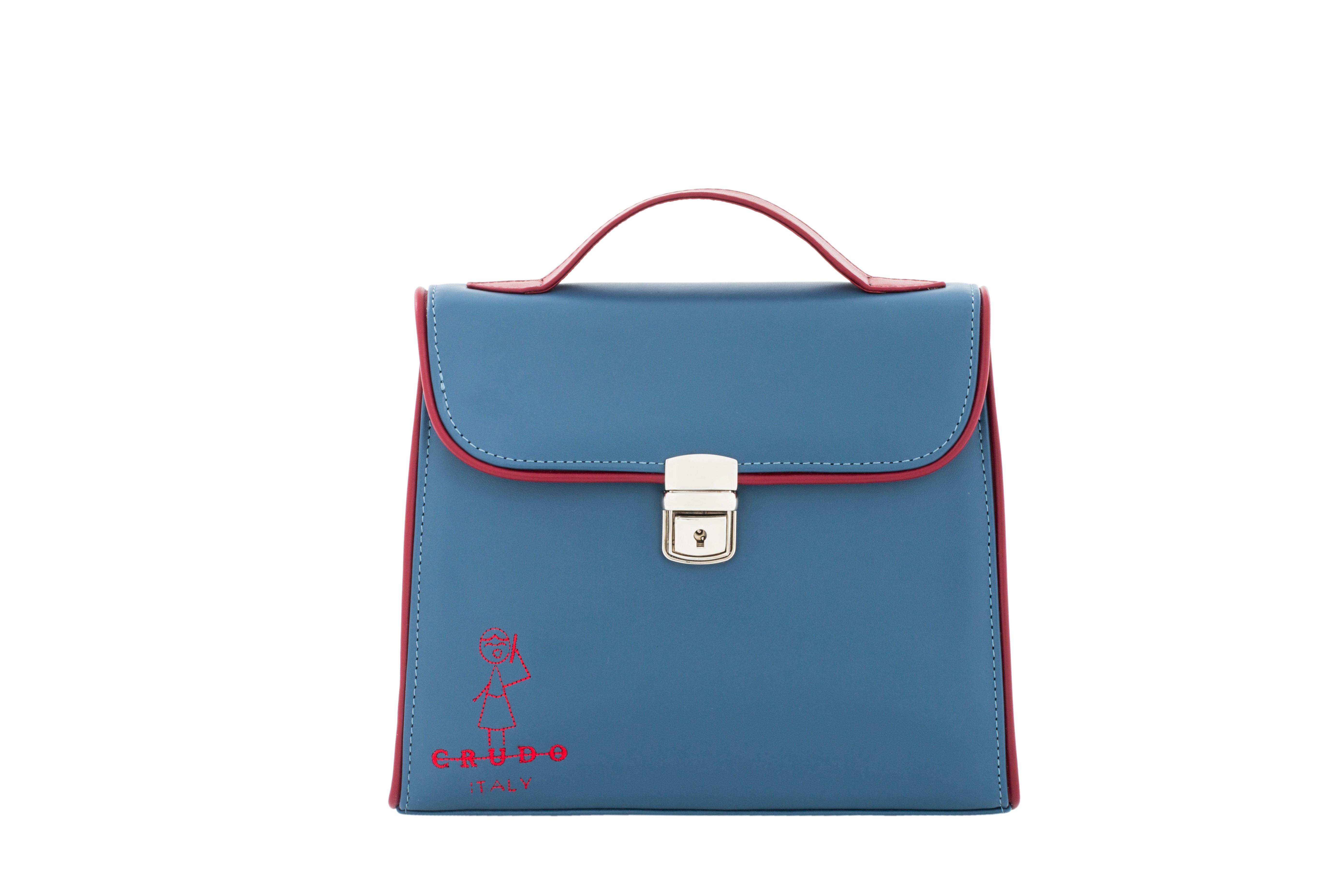 Mini Bag Bambolina, in Pelle di Vitello Jeans