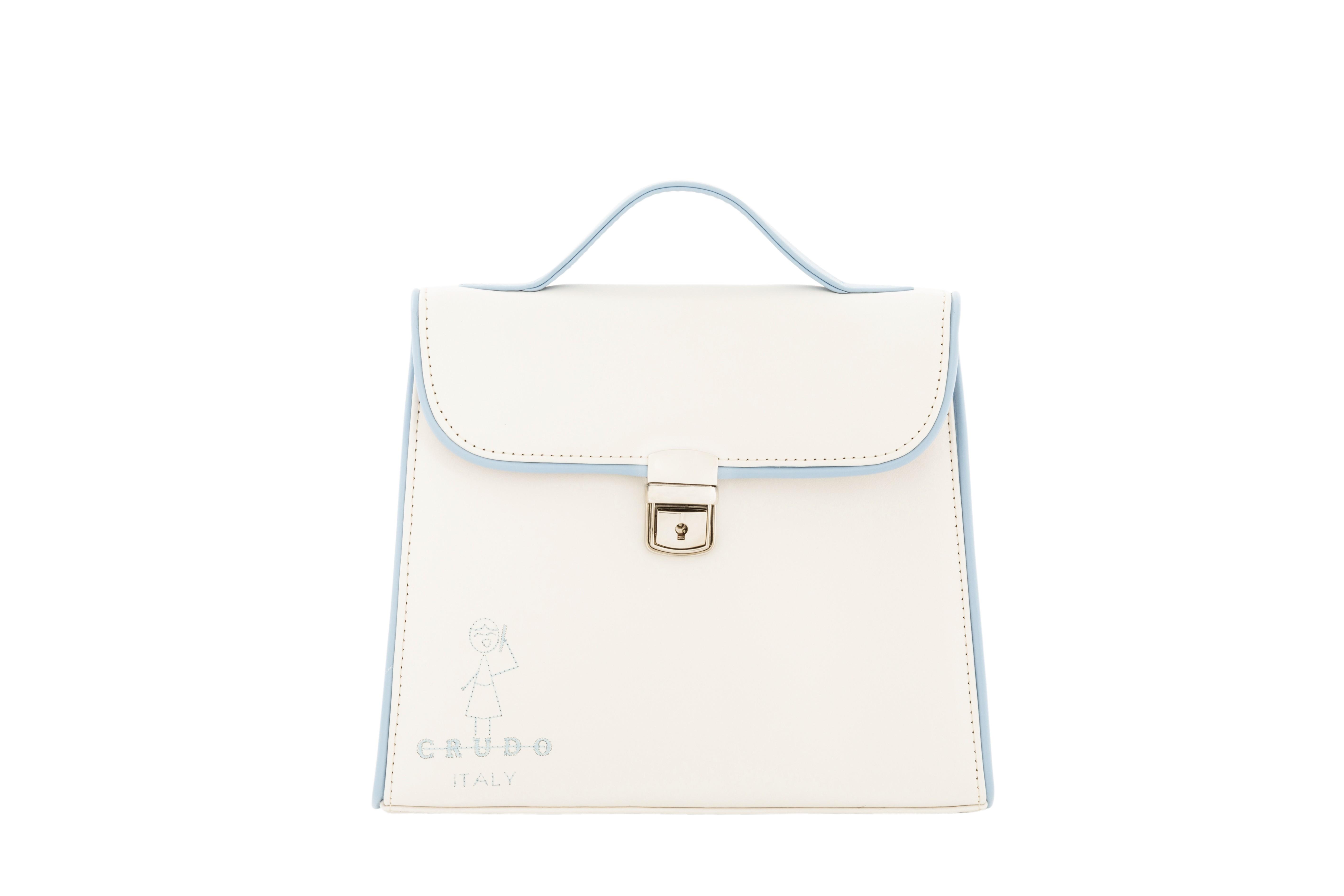 Mini Bag Bambolina,  in pelle di Vitello Latte