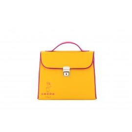Mini Bag Bambolina, in Pelle di Vitello Miele