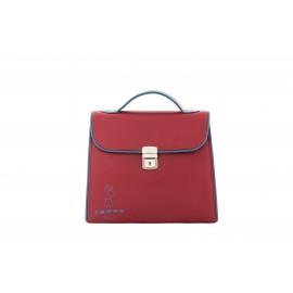 Mini Bag Bambolina, in Pelle di Vitello Rubino