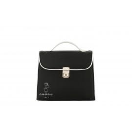Mini Bag Bambolina, in Pelle di Vitello Nero